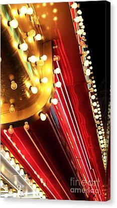 Neon Vegas Canvas Print by John Rizzuto