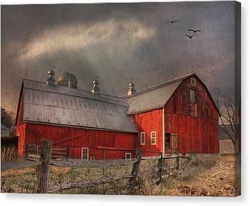 Nescopeck Duck Barn Canvas Print by Lori Deiter