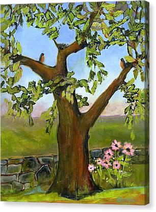 Nesting Tree Canvas Print by Blenda Studio