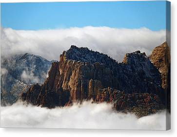 Nestled In The Clouds Canvas Print by Alan Socolik