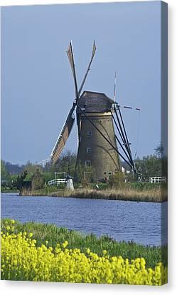 Netherlands, Kinderdijk, Windmill Canvas Print by Jaynes Gallery