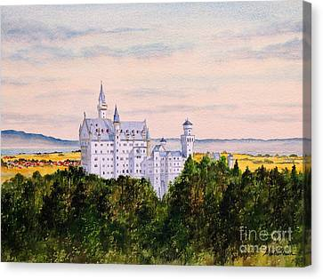 Neuschwanstein Castle Bavaria Germany Canvas Print by Bill Holkham