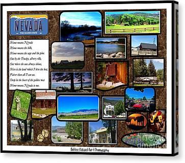 Nevada Collage Canvas Print by Bobbee Rickard