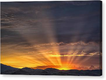 Nevada Sunset Canvas Print by Janis Knight