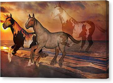 Never Alone Canvas Print by Betsy Knapp