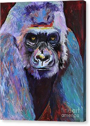 Never Date A Gorilla With A Nice Smile Canvas Print by Pat Saunders-White