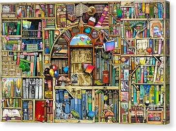 Neverending Stories Canvas Print by Colin Thompson