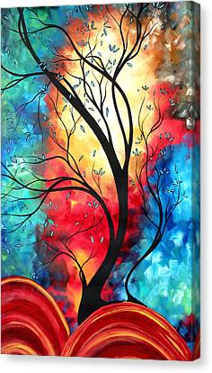 New Beginnings Original Art By Madart Canvas Print by Megan Duncanson