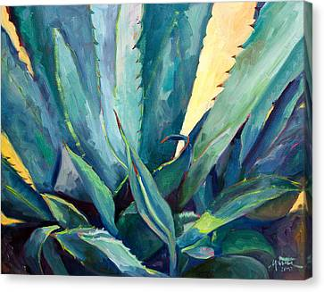 New Blue Agave Canvas Print by Athena  Mantle