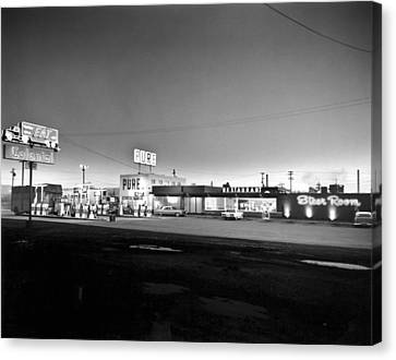 New Breed Of Truck Stop Canvas Print by Underwood Archives