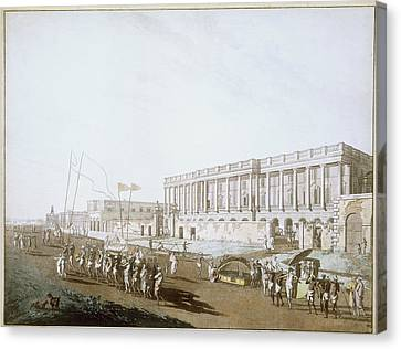 New Court House And Chandpal Ghaut Canvas Print by British Library