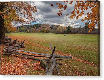 New England Autumn Field Canvas Print by Bill Wakeley