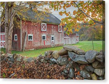 New England Barn Canvas Print by Bill Wakeley