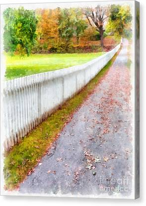 New England Picket Fence Canvas Print by Edward Fielding