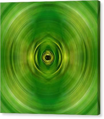 New Growth - Green Art By Sharon Cummings Canvas Print by Sharon Cummings