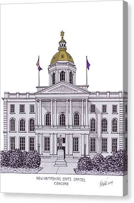 New Hampshire State Capitol Canvas Print by Frederic Kohli