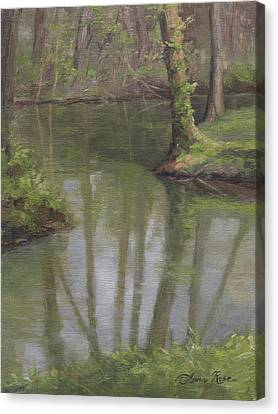 New Harmony Spring Canvas Print by Anna Rose Bain