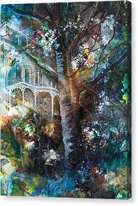 New Hope Cherry Tree Canvas Print by Patricia Allingham Carlson