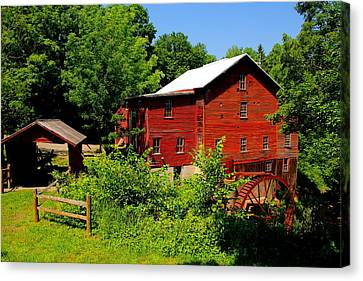 New Hope Mill Canvas Print by Dave Files