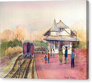 New Hope Station Canvas Print by Pamela Parsons