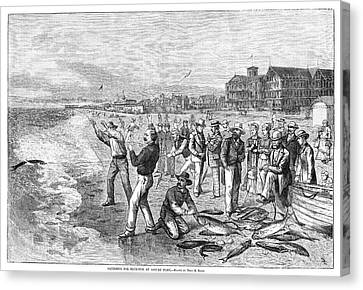 New Jersey Fishing, 1880 Canvas Print by Granger