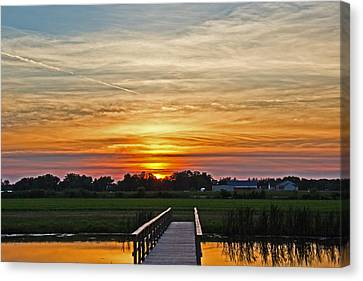 New Jersey Summer Sunset Canvas Print by Tom Gari Gallery-Three-Photography