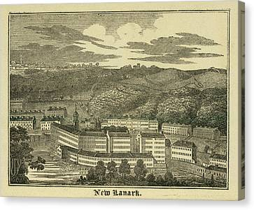 New Lanark Canvas Print by British Library