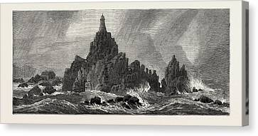New Lighthouse, Corbiere Rocks Canvas Print by English School