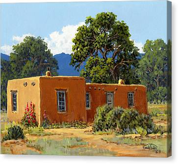 New Mexico Adobe Canvas Print by Randy Follis