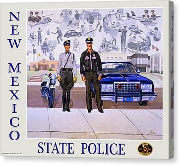 New Mexico State Police Poster Canvas Print by Randy Follis
