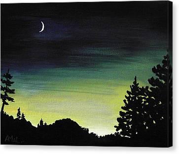 New Moon Canvas Print by Anastasiya Malakhova