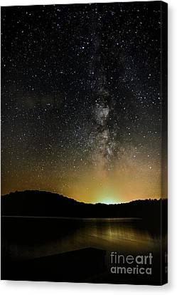 New Moon Lake Canvas Print by Thomas R Fletcher