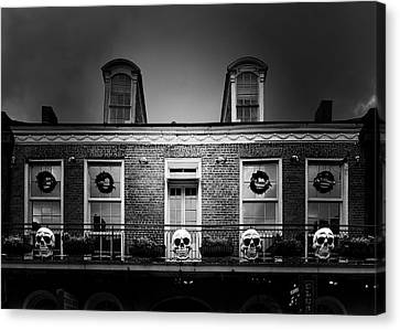 New Orleans- A Skull Paradise Canvas Print by Christine Till