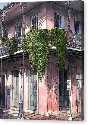 New Orleans Balcony Canvas Print by John Boles