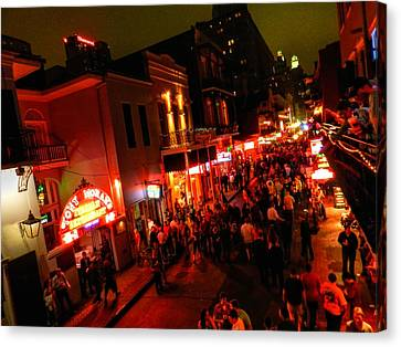 New Orleans - Bourbon St. 003 Canvas Print by Lance Vaughn