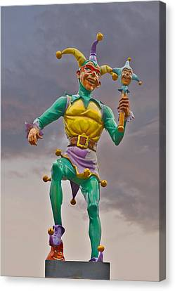 New Orleans - Canal Street Ferry Jester Canvas Print by Christine Till