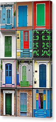 New Orleans Doors Canvas Print by Christine Till