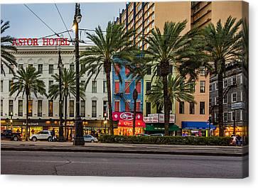 New Orleans Downtown 2 Canvas Print by Steve Harrington