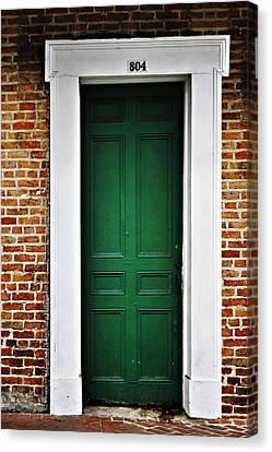 New Orleans Green Door Canvas Print by Christine Till