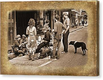 New Orleans Gypsies - Antique Canvas Print by Judy Vincent