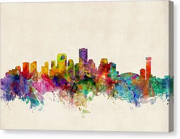 New Orleans Louisiana Skyline Canvas Print by Michael Tompsett