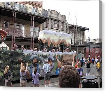 New Orleans - Mardi Gras Parades - 121287 Canvas Print by DC Photographer