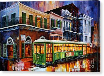 New Orleans Old Desire Streetcar Canvas Print by Diane Millsap