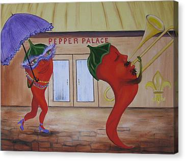 New Orleans Peppers Canvas Print by RJ McNall