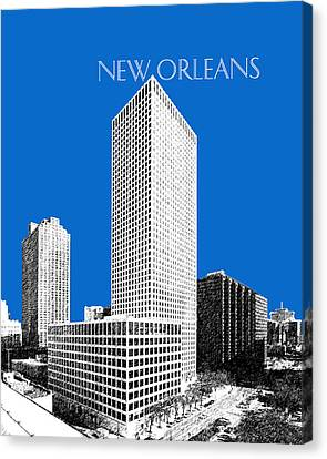 New Orleans Skyline - Blue Canvas Print by DB Artist