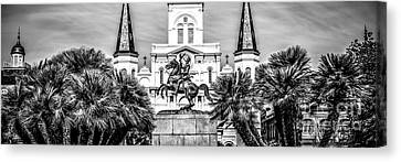 New Orleans St. Louis Cathedral Panorama Photo Canvas Print by Paul Velgos