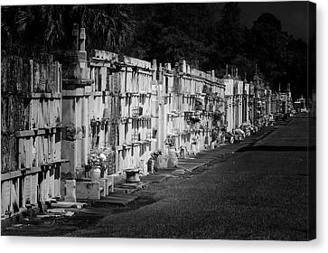 New Orleans St Louis Cemetery No 3 Canvas Print by Christine Till