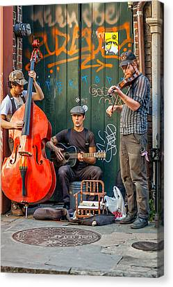 New Orleans Street Musicians Canvas Print by Steve Harrington