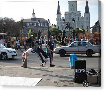 New Orleans - Street Performers - 121215 Canvas Print by DC Photographer