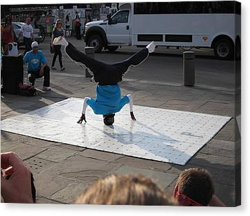 New Orleans - Street Performers - 121231 Canvas Print by DC Photographer